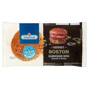 Schulstad Gourmet Boston Bułki pszenne do hamburgerów 324 g (4 x 81 g)