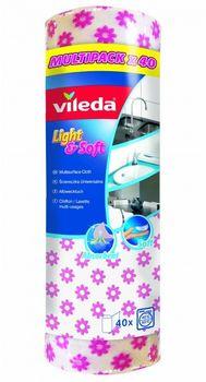 Ściereczki VILEDA Light&Soft rolka (40 sztuk)