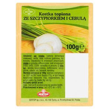 Sertop Tychy Kostka topiona ze szczypiorkiem i cebulą 100 g