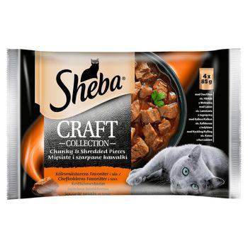 Sheba Craft Collection Karma pełnoporcjowa soczyste smaki w sosie 340 g (4 x 85 g)