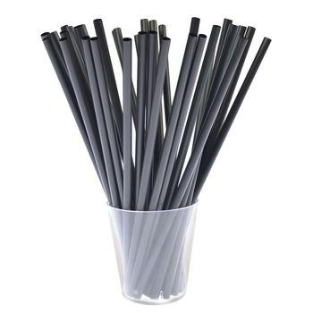 Słomki Biodegradowalne Arpex Czarne 20szt