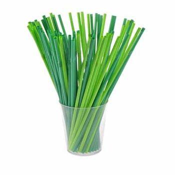 Słomki Łamane Biodegradowalne Arpex Zielone 30szt