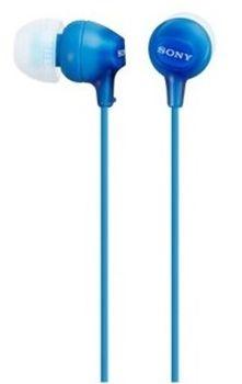 Słuchawki z mikrofonem SONY MDR-EX15AP Niebieski MDREX15APLI
