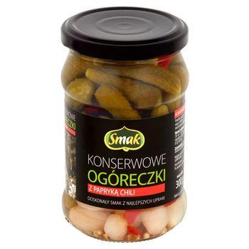 Smak Konserwowe ogóreczki z papryką chili 300 g