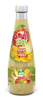Smufi 100% z bananów i jabłek 300 ml