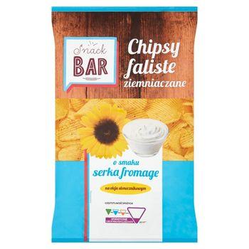 Snack Bar Chipsy ziemniaczane faliste o smaku serka fromage 200 g