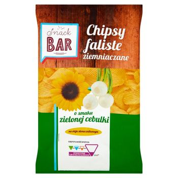 Snack Bar Chipsy ziemniaczane faliste o smaku zielonej cebulki 200 g