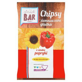 Snack Bar Chipsy ziemniaczane gładkie o smaku papryki 200 g