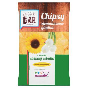 Snack Bar Chipsy ziemniaczane gładkie o smaku zielonej cebulki 200 g