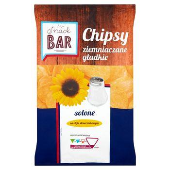 Snack Bar Chipsy ziemniaczane gładkie solone 200 g