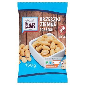 Snack Bar Orzeszki ziemne prażone bez soli 150 g