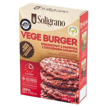 Soligrano Vege burger orkiszowy z papryką i siemieniem lnianym 140 g