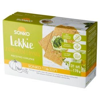 Sonko Pieczywo chrupkie Lekkie z orkiszem i dynią 170 g (31 sztuk)