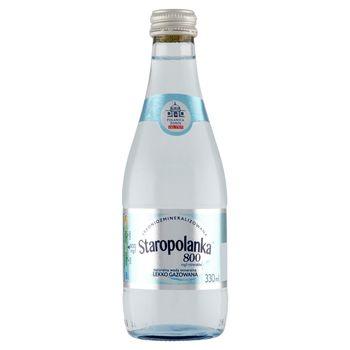 Staropolanka 800 Naturalna woda mineralna średniozmineralizowana lekko gazowana 330 ml