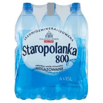 Staropolanka 800 Naturalna woda mineralna średniozmineralizowana niegazowana 6 x 1,5 l