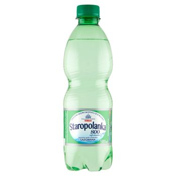 Staropolanka 800 Naturalna woda mineralna średniozmineralizowana gazowana 500 ml