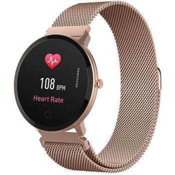 Stylowy Smartwatch Forever ForeVigo SB-320 - kolor różowo złoty