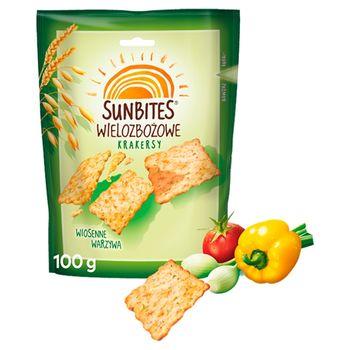 Sunbites Wielozbożowe krakersy wiosenne warzywa 100 g