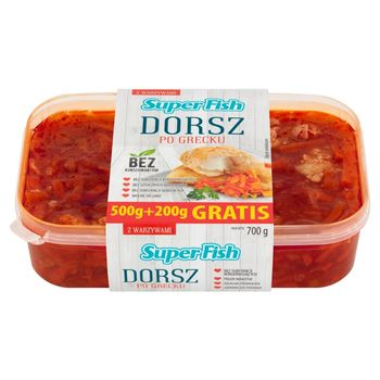 SuperFish Dorsz po grecku 700 g