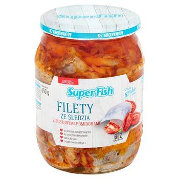 SuperFish Filety ze śledzia z suszonymi pomidorami 650 g