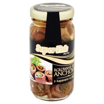 SuperFish Prestige Rolowane filety anchovies z kaparami w oleju 95 g