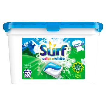 Surf Color & White Górska świeżość Kapsułki do prania 723 g (30 prań)