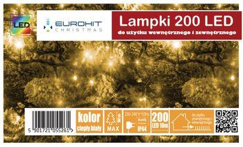 Świąteczne Lampki 200 Led Eurohit Zewnętrzne Białe Ciepłe
