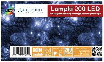 Świąteczne Lampki 200 Led Eurohit Zewnętrzne Białe Zimne