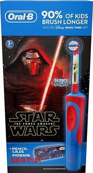 Szczoteczka elektryczna ORAL-B Stages Power Star Wars The Force Awaken + piórnik D12.513K PTB STARWARS+PENCIL CS
