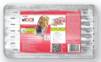 Tacka VIGO! Tacki aluminiowe do grilla L (4 sztuki) 7341141