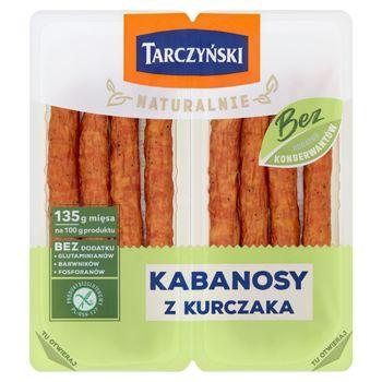 Tarczyński Naturalnie Kabanosy z kurczaka 180 g (2 x 90 g)