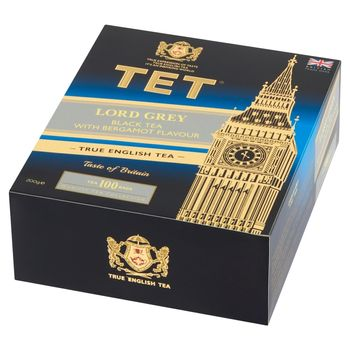 TET Lord Grey Herbata czarna 200 g (100 x 2 g)
