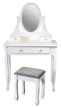 Toaletka LAURA III z taboretem
