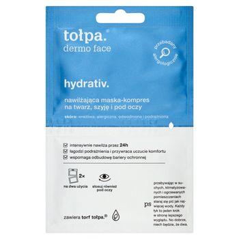 tołpa dermo face hydrativ Nawilżająca maska-kompres na twarz szyję i pod oczy 2 x 6 ml