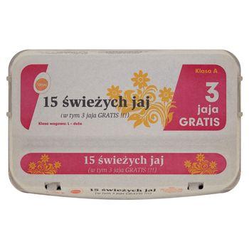Top Jaj Jaja z chowu klatkowego L 15 sztuk