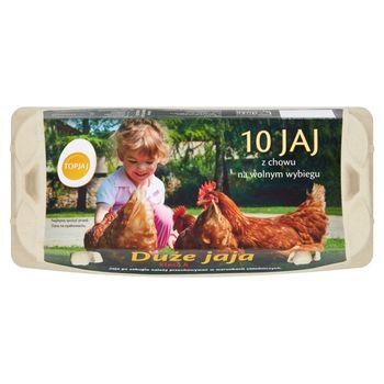 Top Jaj Jaja z chowu na wolnym wybiegu L 10 sztuk