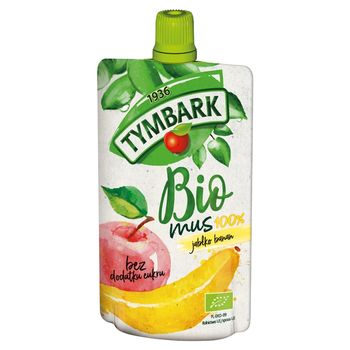 Tymbark Bio mus 100% jabłko banan 100 g