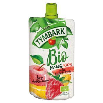 Tymbark Bio mus 100% jabłko truskawka banan 100 g