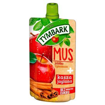 Tymbark Mus jabłko cynamon + kasza jaglana 100 g