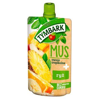 Tymbark Mus owoce tropikalne + ryż 100 g