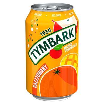 Tymbark Napój gazowany jabłko pomarańcza mango 330 ml