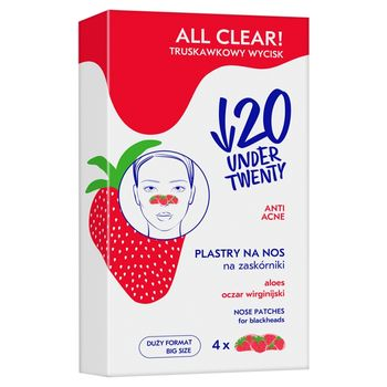 Under Twenty Anti Acne All Clear! Plastry na nos na zaskórniki 4 sztuki