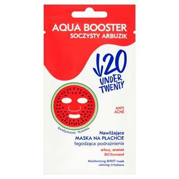 Under Twenty Anti Acne Aqua Booster Nawilżająca maska na płachcie łagodząca podrażnienia