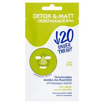 Under Twenty Anti Acne Detox & Matt Oczyszczająca maska na płachcie zmniejszająca łojotok