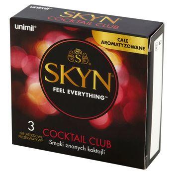 Unimil Skyn Cocktail Club Nielateksowe prezerwatywy 3 sztuki