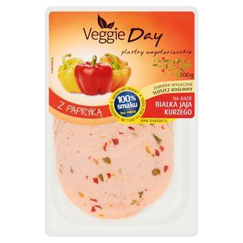 VeggieDay Plastry wegetariańskie z papryką 100 g