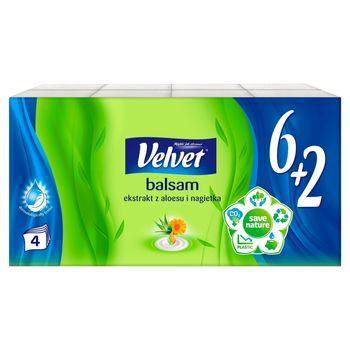 Velvet Balsam Chusteczki higieniczne ekstrakt z aloesu i nagietka 8 x 10 sztuk
