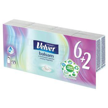 Velvet Balsam Chusteczki higieniczne o kremowym zapachu 8 x 10 sztuk