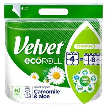 Velvet ecoRoll Rumianek i Aloes Papier toaletowy 4 rolki