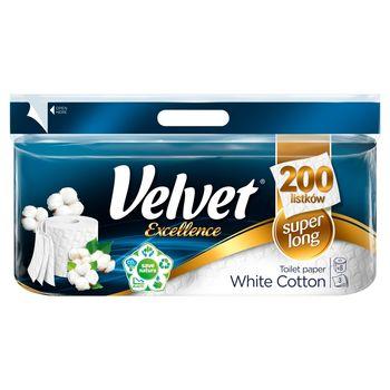 Velvet Excellence White Cotton Papier toaletowy 8 rolek